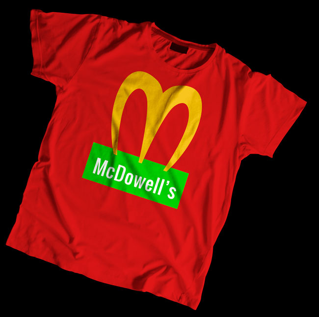The McDowell's special T-shirt